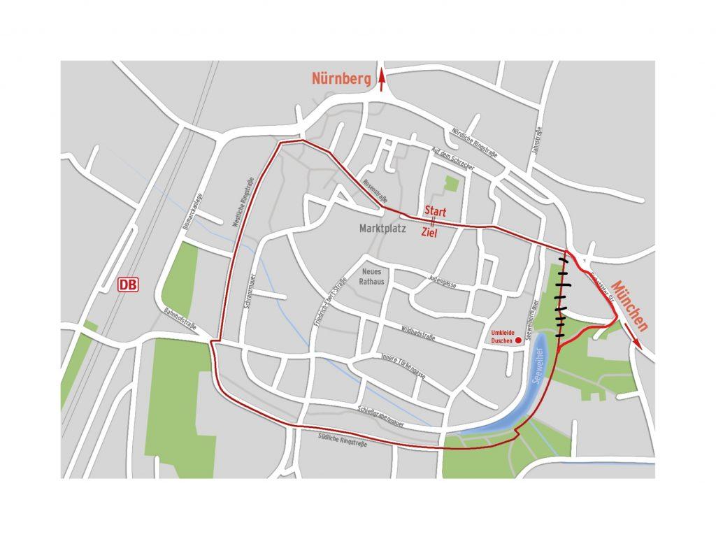 Verlauf der 2km langen Strecke